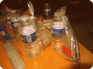 The Kinder, Water, and Sandwich