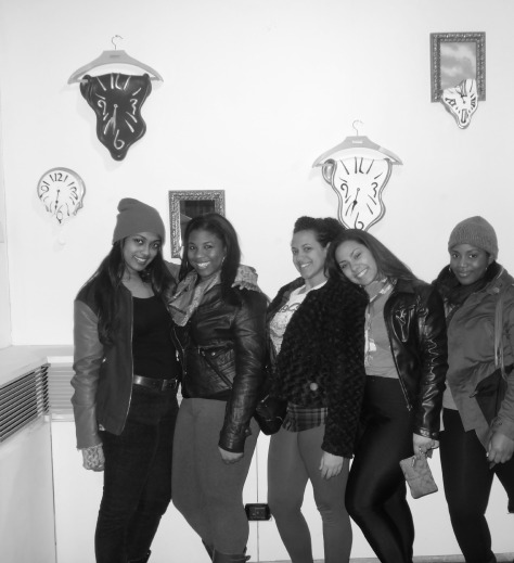 (From left) Nadia, Me, Leah, Cassandra, Maria
